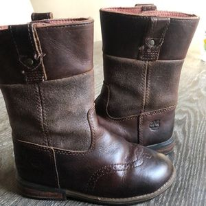 Timberland toddler leather western style boot sz 9